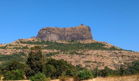 harihar fort trek as seen from the base village