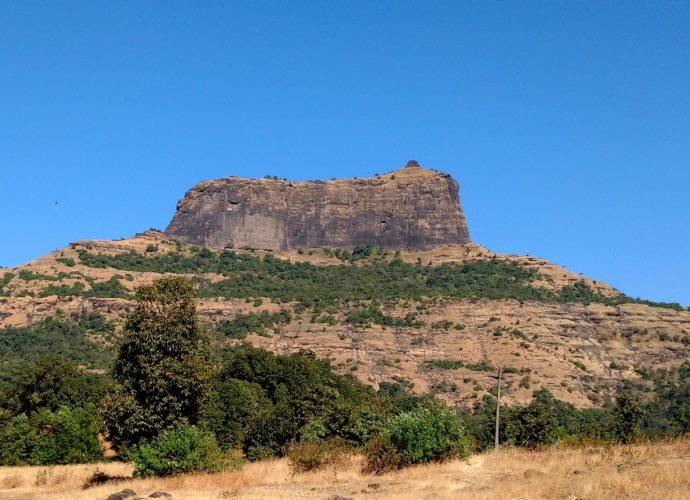 harihar fort trek as seen from the base village