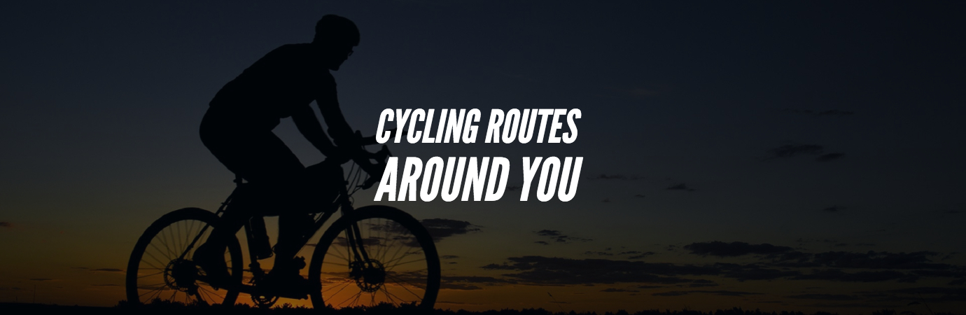 find cycling route around you