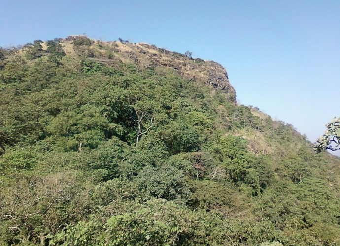 Asherigad Fort Trek as seen from the base village