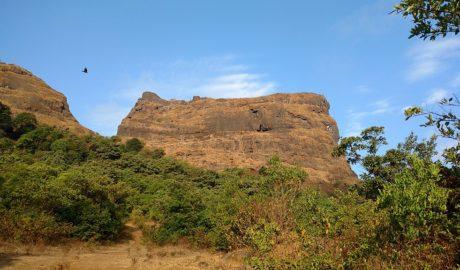 Ghangad Fort Trek as seen from the Ekole village