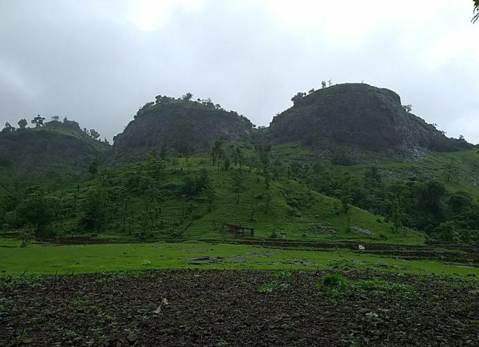 Mirgad fort trek as seen from the base village