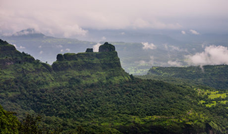 Padargad Fort trek as seen from Bhimashankar