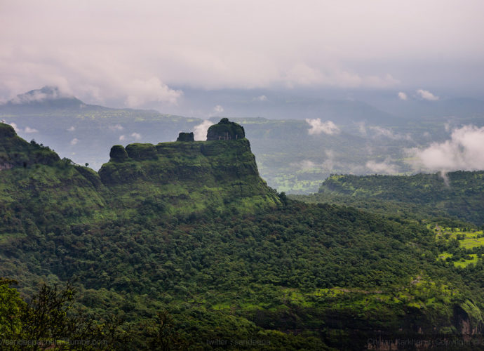 Padargad Fort trek as seen from Bhimashankar
