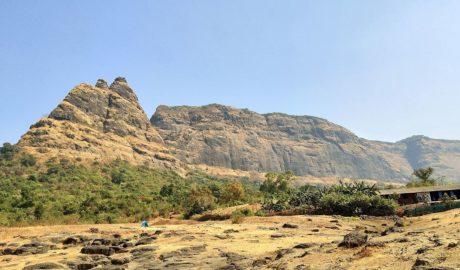 prabalgad fort as seen from prabalmachi